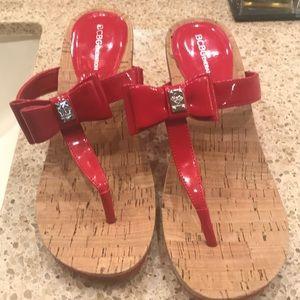 BCBG red sandals